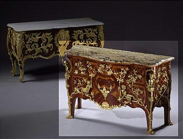 A Louis XV style gilt-bronze mounted mahogany commode