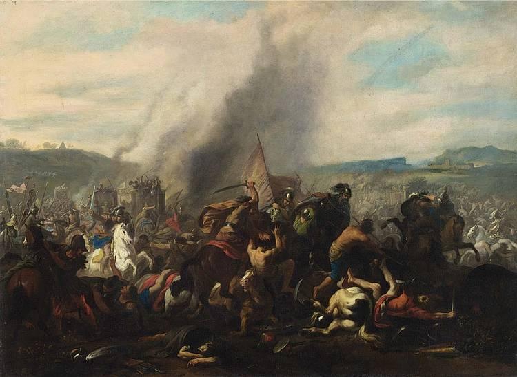 JAN VAN HUCHTENBURG HAARLEM 1647 - 1733 AMSTERDAM