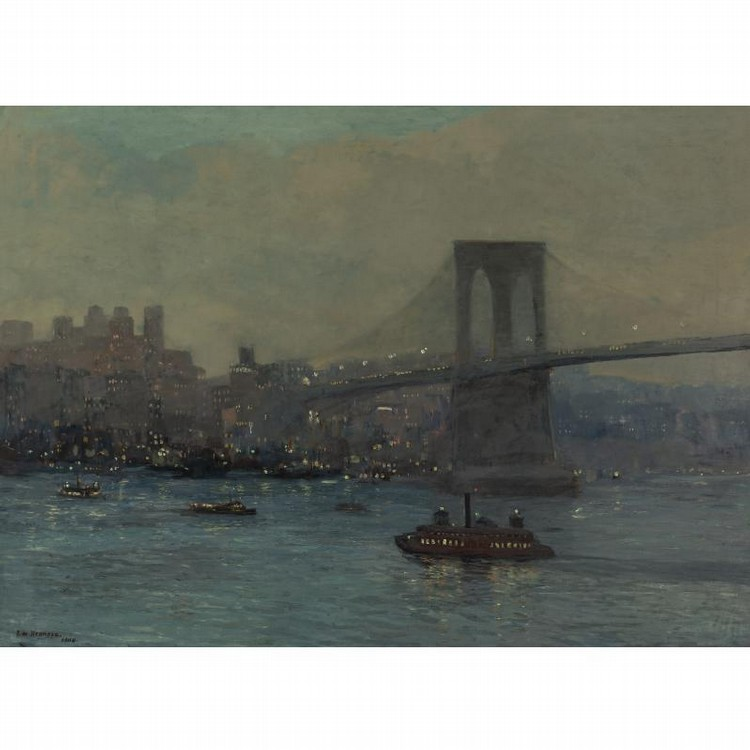 PROPERTY FROM THE CIGNA MUSEUM AND ART COLLECTION EDWARD W. REDFIELD 1869-1965 BROOKLYN BRIDGE AT