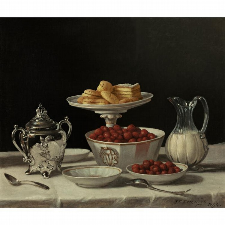 PROPERTY FROM THE COLLECTION OF READER'S DIGEST JOHN F. FRANCIS 1808-1886 STILL LIFE: STRAWBERRIES