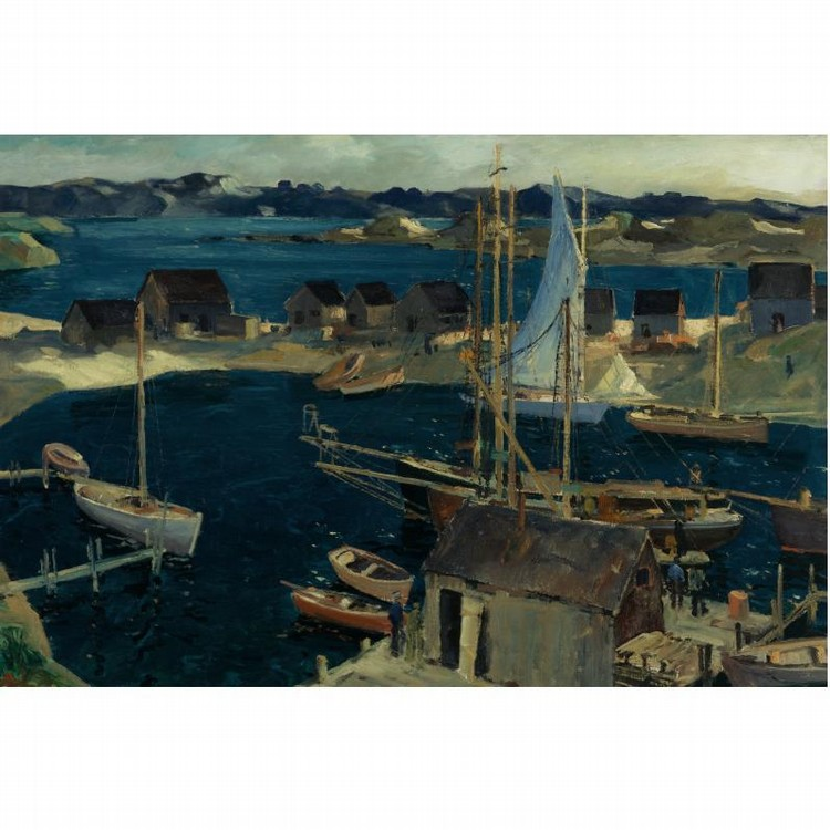 PROPERTY FROM THE CIGNA MUSEUM AND ART COLLECTION JONAS LIE 1880-1940 THE INNER HARBOR