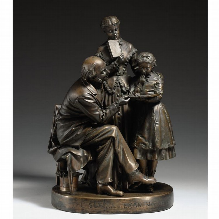 PROPERTY FROM THE CHARLES R. WOOD FOUNDATION u - JOHN ROGERS 1829-1904 THE SCHOOL EXAMINATION
