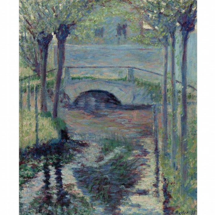 PROPERTY OF A CALIFORNIA COLLECTOR THEODORE EARL BUTLER 1861-1936 BRIDGE AT GIVERNY