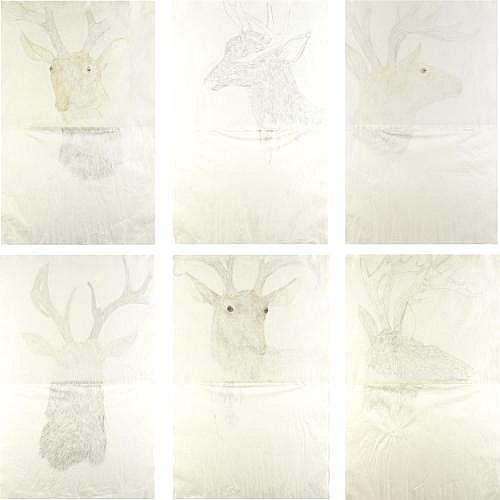 Kiki Smith , Deer Drawings