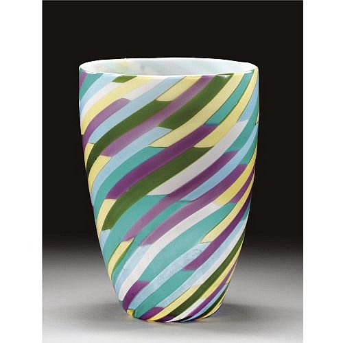 m - 'KLEE': an Italian Glass Vase by Laura Diaz De Santillana for VENINI, 1982 , 'KLEE': an Italian Glass Vase by Laura Diaz De Santillana for VENINI