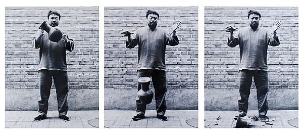 Ai Weiwei , B. 1957 Dropping a Han Dynasty Urn (Set of Three) gelatin-silver print