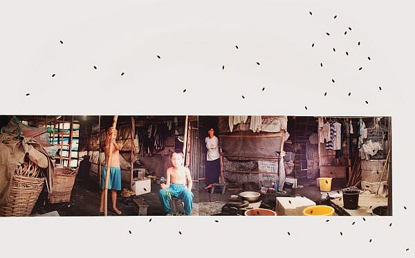 Liang Juhui , 1959-2006 People and Cockroaches (Employed Farmer) (Set of four) chromogenic print