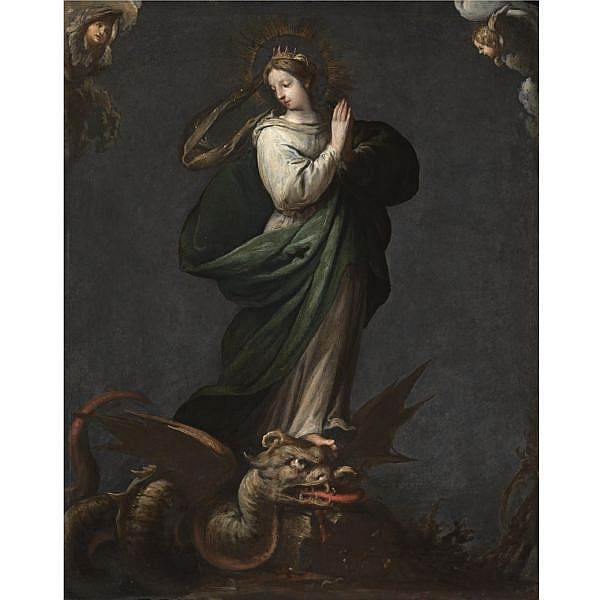 Felice Rizzi, called Felice Brusasorci or Brusasorzi , Verona 1539/40 - 1605 Saint Margaret of Antioch oil on slate