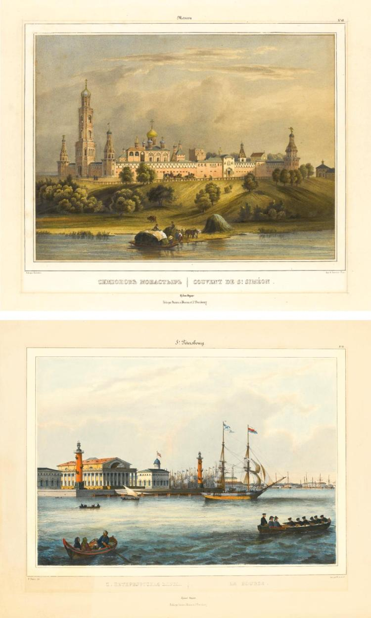 LOUIS JULES ARNOUT | Thirteen Views of Moscow and St Petersburg