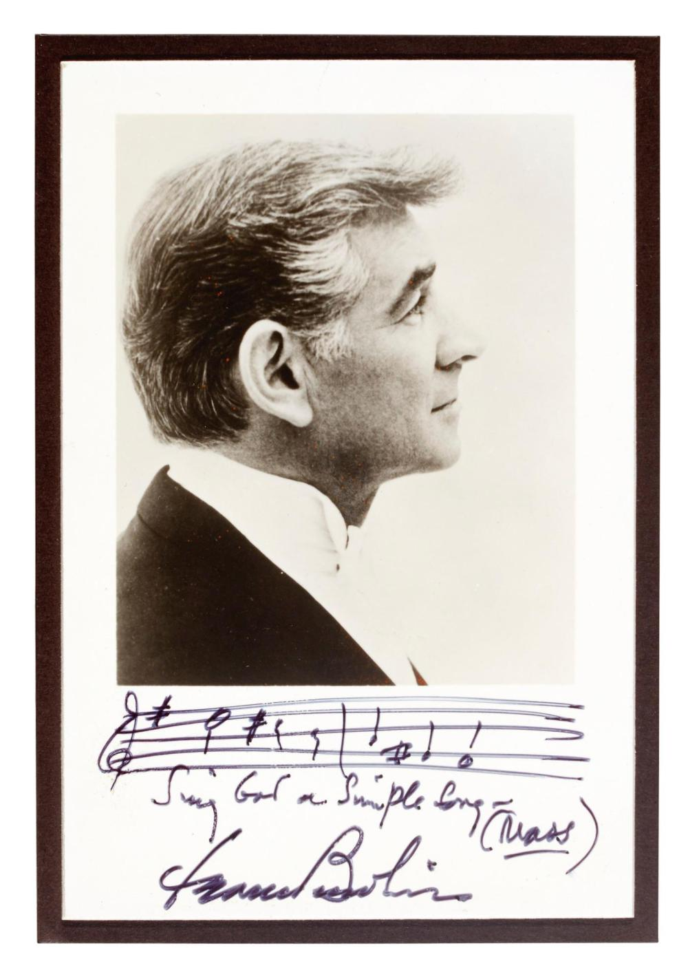 L Bernstein Two Autograph Musical Quotations One From Quot We