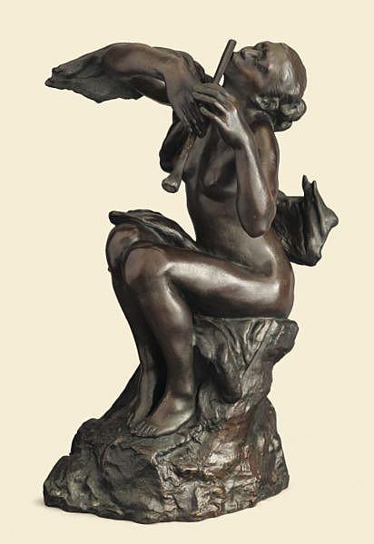 Camille Claudel , LA JOUEUSE DE FLÛTE OU LA SIRÈNE bronze