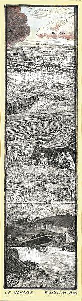 Marcel Mariën 1920-1993 , LE VOYAGE DU STYLITE collage, aquarelle et feutre sur papier