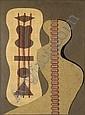 E. L. T. Mesens 1903-1971 , BLACK MUSIC Collage de ficelle, carton ordinaire et carton ondulé sur carton, E.L.T. Mesens, Click for value