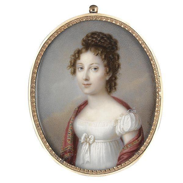 E. Bernhard, Chevalier de Guérard , d. 1836 Portrait of a Lady