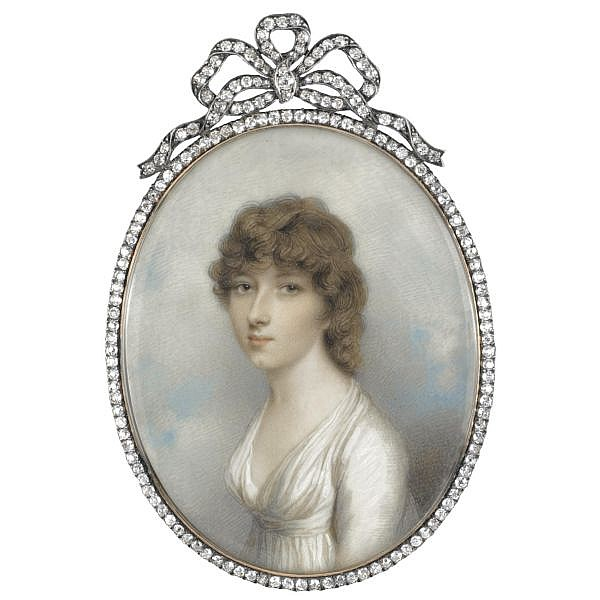 Andrew Plimer , 1763-1837 Portrait of Mrs Colyear Dawkins, née Forbes
