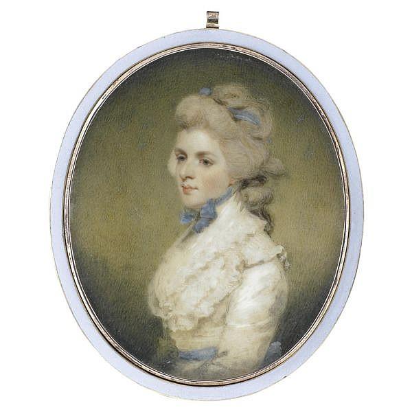 Edward Miles , 1752-1828 Portrait of Miss Frances (Fanny) Kemble, afterwards Mrs Twiss (1759-1822)