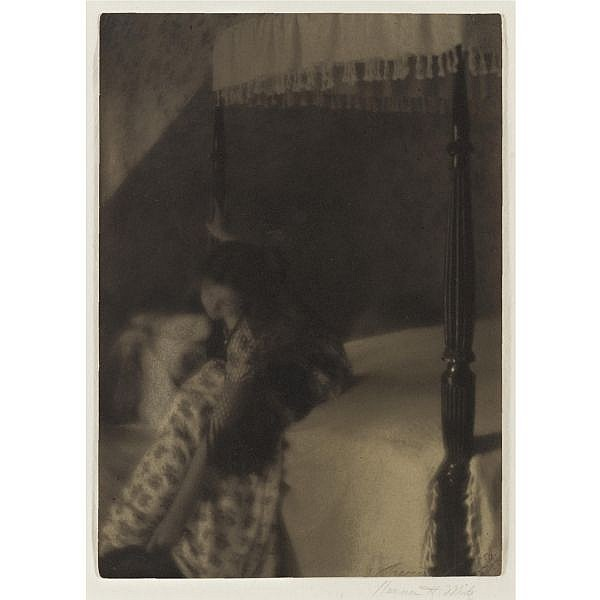 Clarence H. White , 1871-1925 the canopied bed