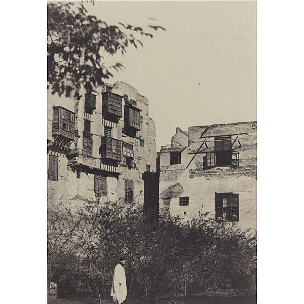 Maxime Du Camp , 1822-1894 'le kaire. maison et jardin dans le quartier frank'