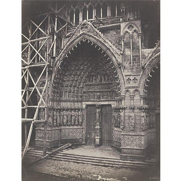Édouard Baldus , 1813-1889 portal, amiens cathedral