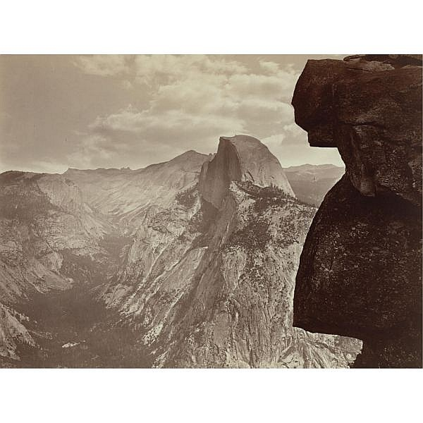 Carleton E. Watkins , 1829-1916 tasayac, half dome from glacier point, yosemite
