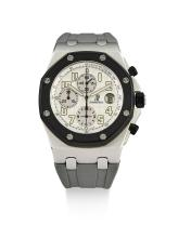 AUDEMARS PIGUET | A STAINLESS STEEL AUTOMATIC CHRONOGRAPH WRISTWATCH WITH DATE AND REGISTERS