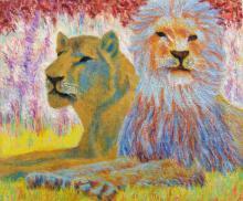 PAUL CAMENISCH | Zwei Löwen