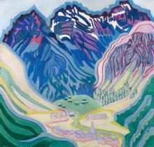 PAUL CAMENISCH | Berglandschaftmit Sertigdörfli(Davos), 1926