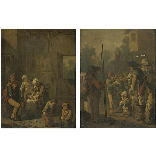 - Andries Both , Utrecht circa 1612/13 - 1642 Venice A barn interior with a peasant family,