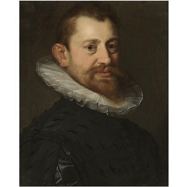 - Hans von Aachen , Cologne 1552 - 1615 Prague Portrait of a gentleman, bust length   oil on canvas