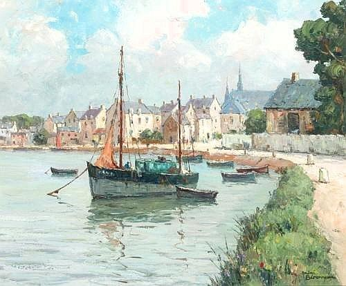 ANDRE BERONNEAU, 1896-1973 AURAY ST GOUSTAN 46x55cm.; 18x21.75in. signed; signed and titled on the reverse oil on canvas PROVENANCE E. Stacy-Marks Ltd., Eastbourne