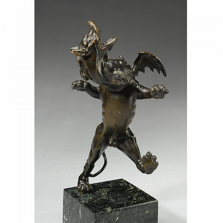 AN ITALIAN BRONZE FIGURE OF THE DRAGON LADON, FROM THE WORKSHOP OF GIANFRANCESCO SUSINI (1585-CA. 1653), AFTER A MODEL BY PIETRO TACCA (1557-1640), SECOND QUARTER 17TH CENTURY