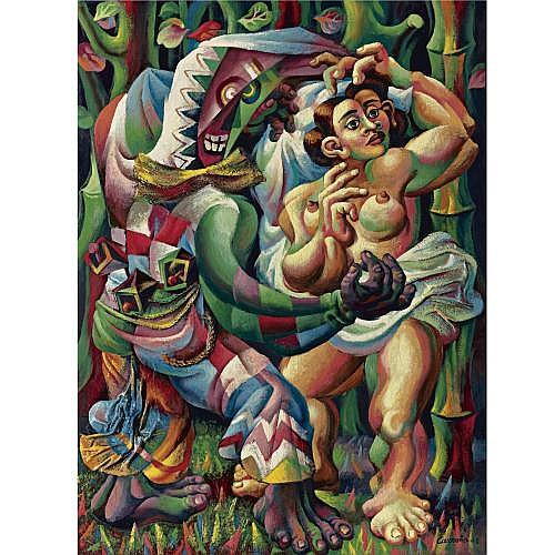 Mario Carreño (1913-1999) , Danza Afro-Cubana