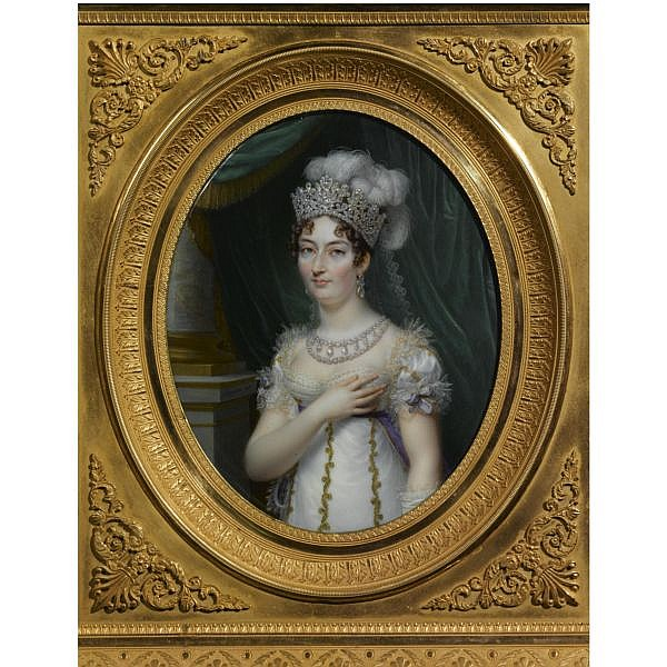 Jean-Baptiste-Jacques Augustin Portrait of Marie Thérèse Charlotte, Duchesse d'Angoulême (1778-1851)   Signed and dated 1818