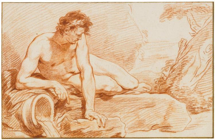 HYACINTHE COLLIN DE VERMONT   A reclining river God