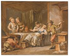 JACQUES-PHILIPPE CARESME   Peasants in a tavern