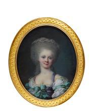 JEAN LAURENT MOSNIER | Portrait of a lady, circa 1780