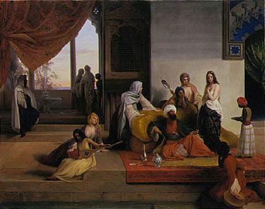 s *FRANCESCO HAYEZ ITALIAN, 1791-1881 NELL'HAREM oil on canvas 33 by 42 1/2 in. 83.8 by 108cm.  PROV...