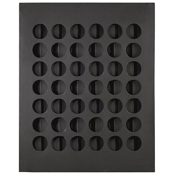 - Paolo Scheggi , 1940-1971 Intersuperficie curva nera olio su tele sovrapposte