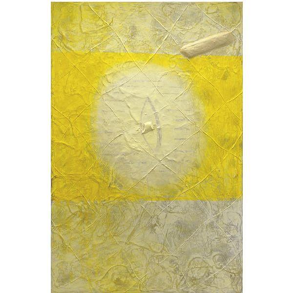 - Gianni Dessì , n. 1955 Senza titolo olio, stoppa, cera, paraffina e gesso su tela