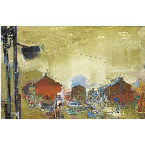 - Velasco , n. 1960 La ville olio su tela