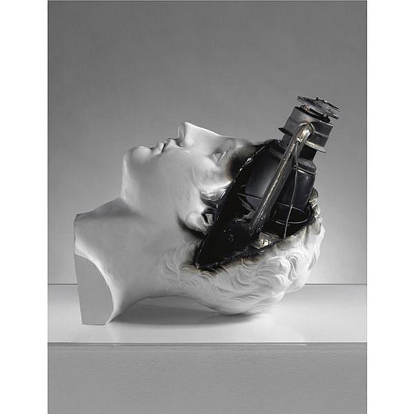 - Claudio Parmiggiani , n. 1944 Senza titolo gesso, ferro e plexiglass