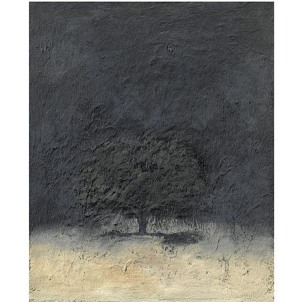 - Carlo Mattioli , 1911 - 1994 Notturno olio su cartone applicato su tela