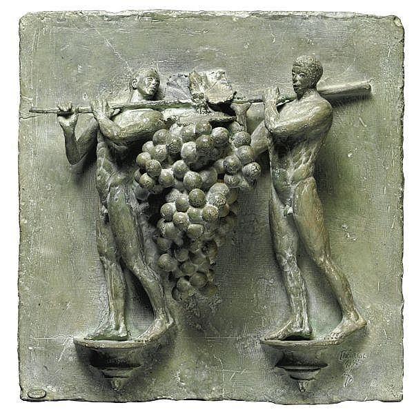 - Ivan Theimer , n. 1944   Il grappolo del Paradiso altorilievo in bronzo patinato