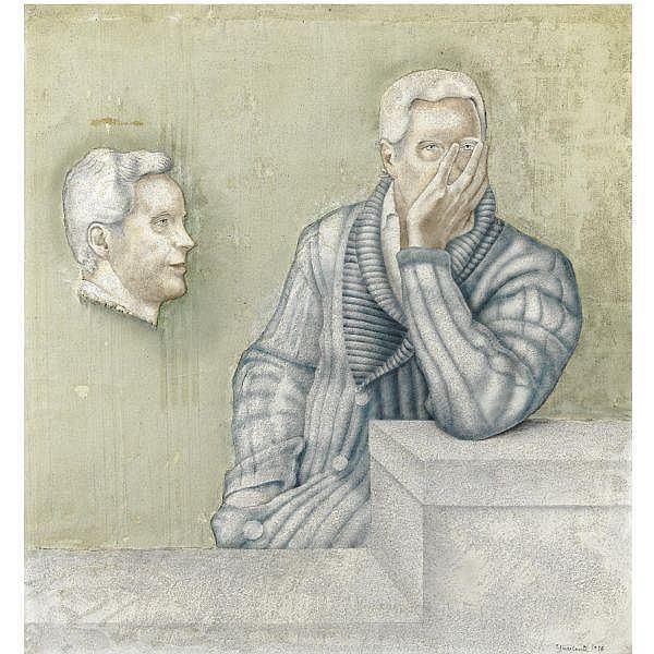 - Carlo Guarienti , n. 1923 Ritratto di Giorgio Soavi affresco su tavola