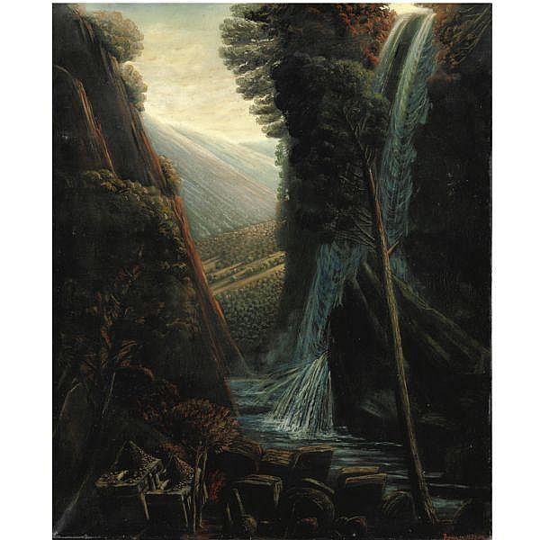 - Ivan Theimer , n. 1944 La grande cascade tempera all'uovo e olio su tela