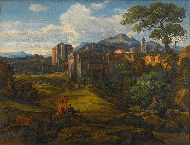 FERDINAND OLIVIER | Italian Landscape