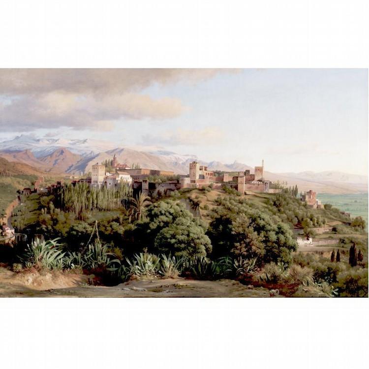 LUDWIG HEINRICH THEODOR GURLITT 1812-1897 THE ALHAMBRA, SIERRA NEVADA PROVINCE, GRENADA