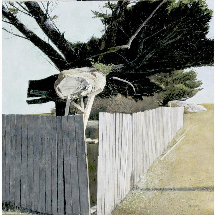 PROPERTY FROM THE COLLECTION OF DR. AND MRS. JOHN A. COOK DAVID LIGARE B. 1945 FENCE WITH TREES