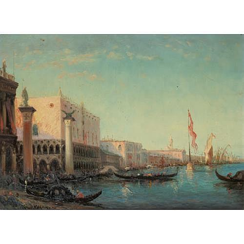 Vincent Manago Toulon 1880 - 1936 Paris , Le Palais des Doges à Venise