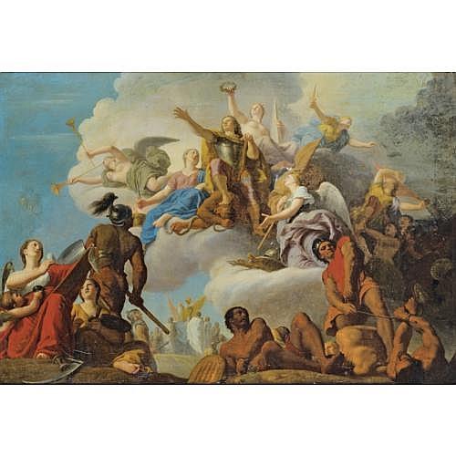 Henri de Favanne Londres 1668 - Paris 1752 , La Bataille d?Almança ou La Bataille de Villaviciosa